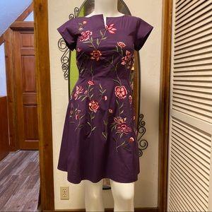 New eShatki Purple Embroidered Dress 14